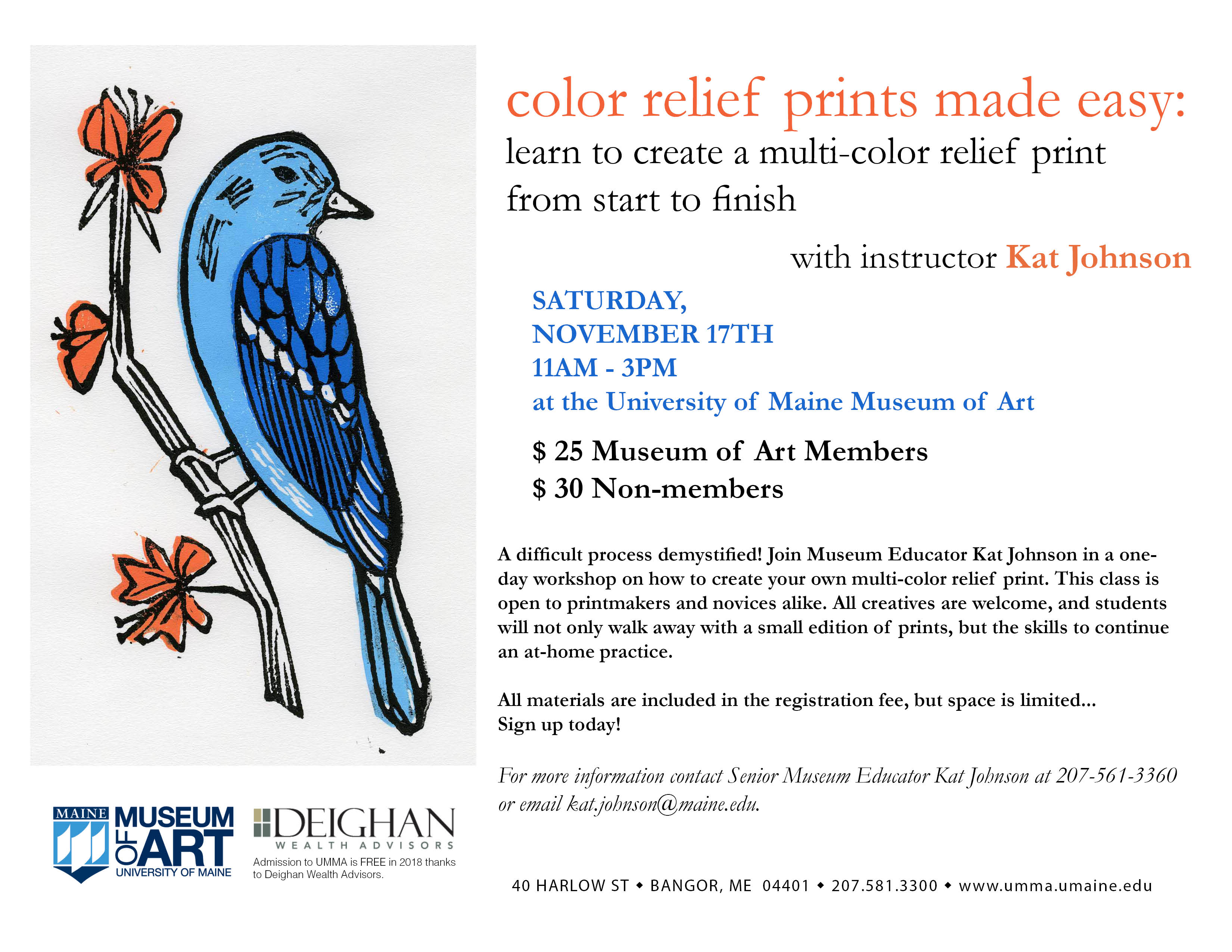 Color Relief Prints Made Easy - Museum of Art - University of Maine