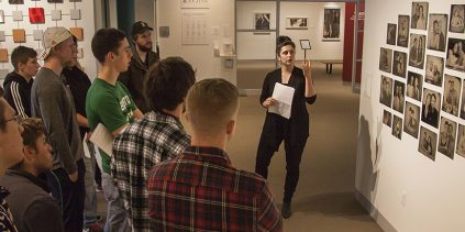 Kat giving a tour of the galleries
