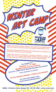 poster for winter art camp 2020