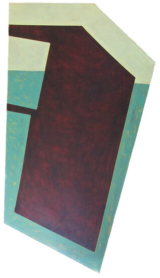Shaped canvas painting by Richard Keen
