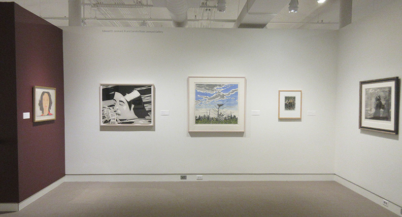 Installation view of Maine Insired show