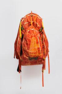 Large orange backpack